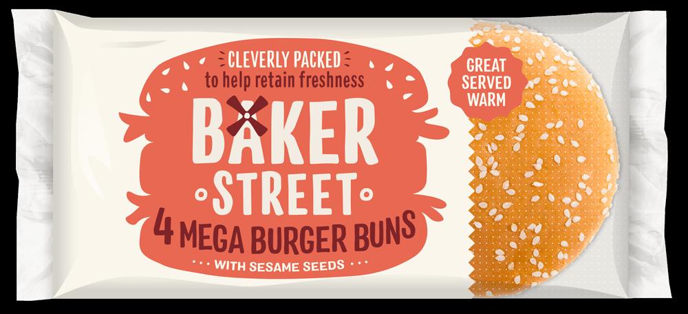 Baker Street Mega Burger Buns