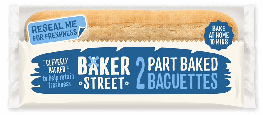 2 Baker Street Part Baked Baguettes