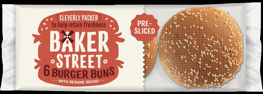 6 Baker Street Seeded Burger Buns
