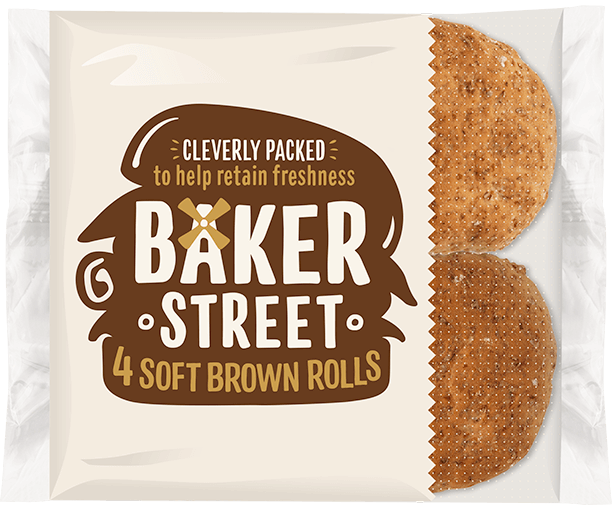 4 Baker Street Soft Brown Rolls