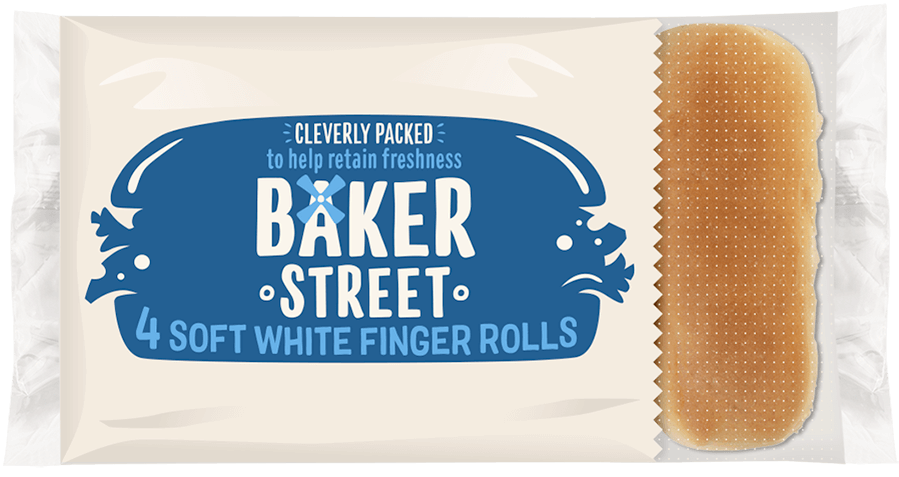 Baker Street White Finger Rolls