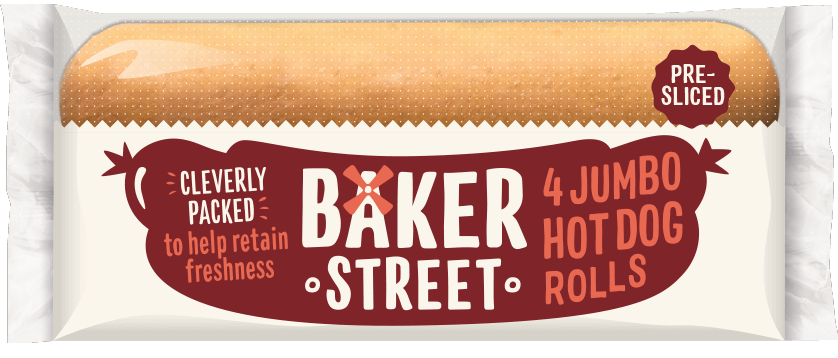 4 Baker Street Jumbo Hot Dog Rolls