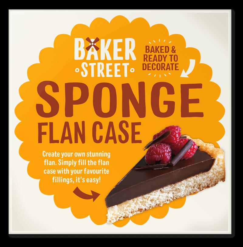 Baker Street Sponge Flan Case