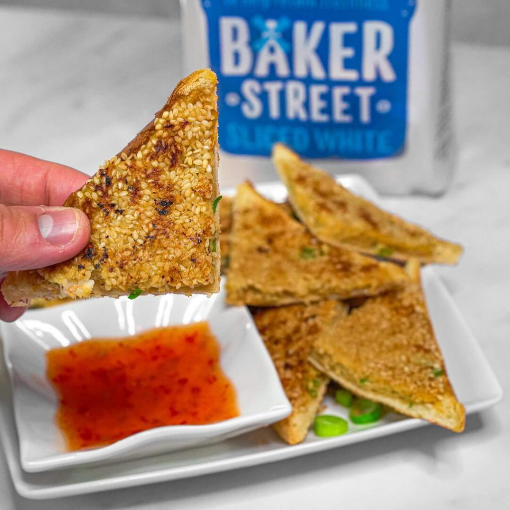 Fakeaway Prawn Toast and Sweet Chilli Dip
