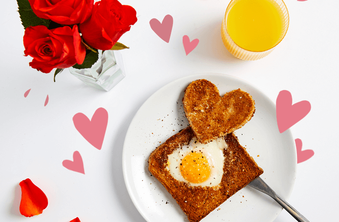 Heart Egg and Toast recipe idea for Mother's Day