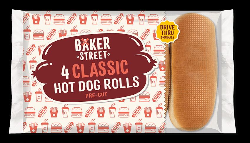 4 Baker Street Hot Dog Rolls
