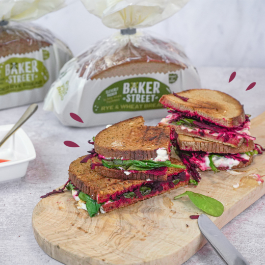 Vegetarian Recipe Ideas Cheese and Beetroot Toastie