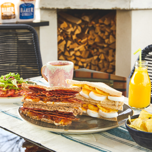 Bacon & Marmalade and Pickled Egg & Crisp Sandwiches