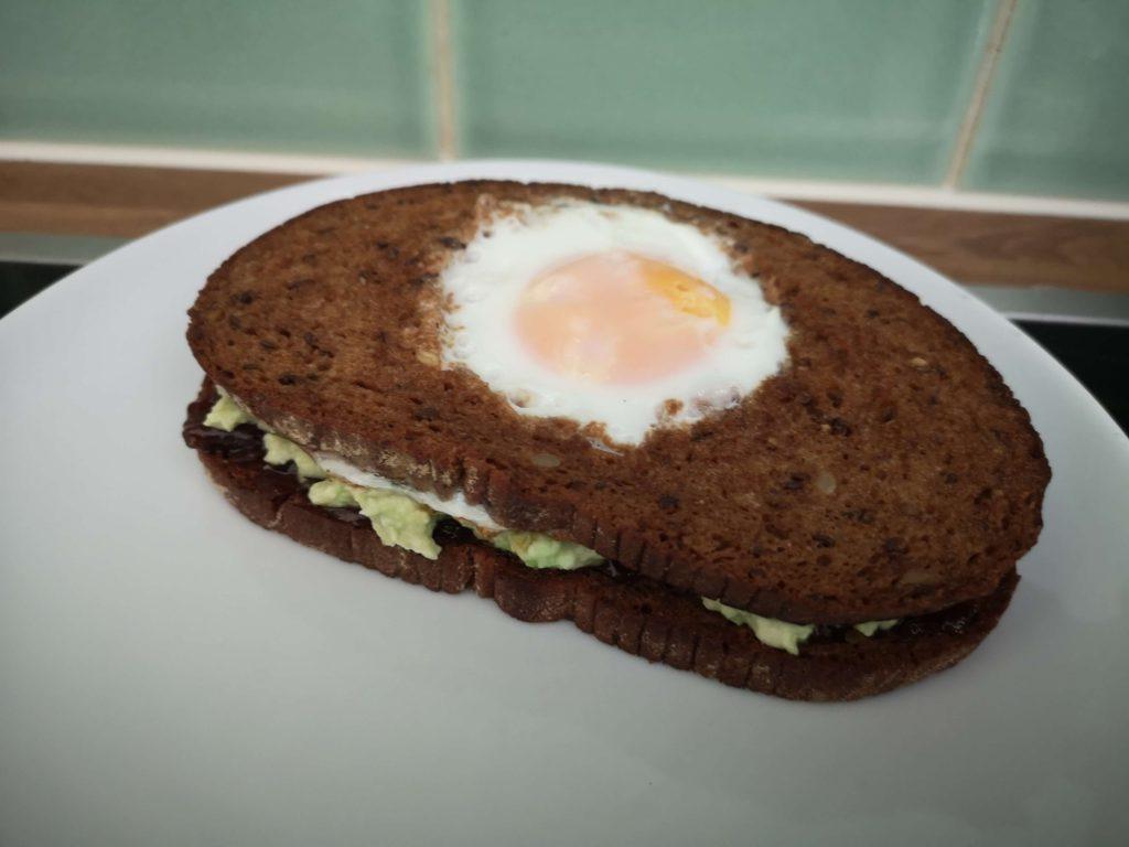 Avocado egg in a hole