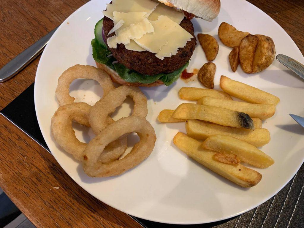 Aubergine and Feta Burger