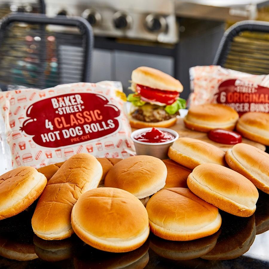 Baker Street Original Burger Buns and Classic Hot Dog Rolls New Look