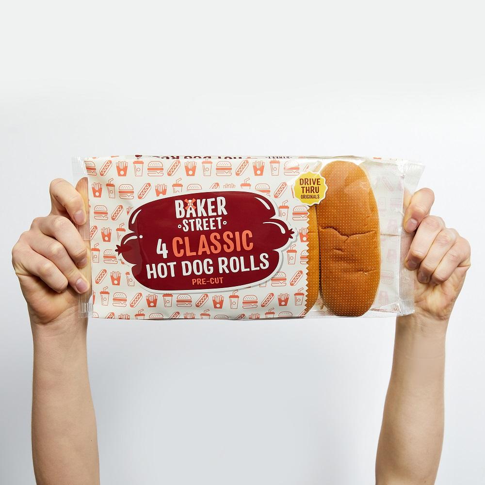 Baker Street Classic Hot Dog Rolls New Packaging